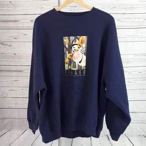 Disney Store blue Tigger Enthusiasm sweatshirt